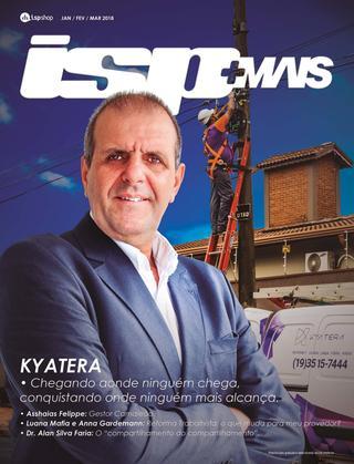 Capa ISPMAIS - KYATERA: chegando aonde ninguém chega, conquistando onde ninguém mais alcança.